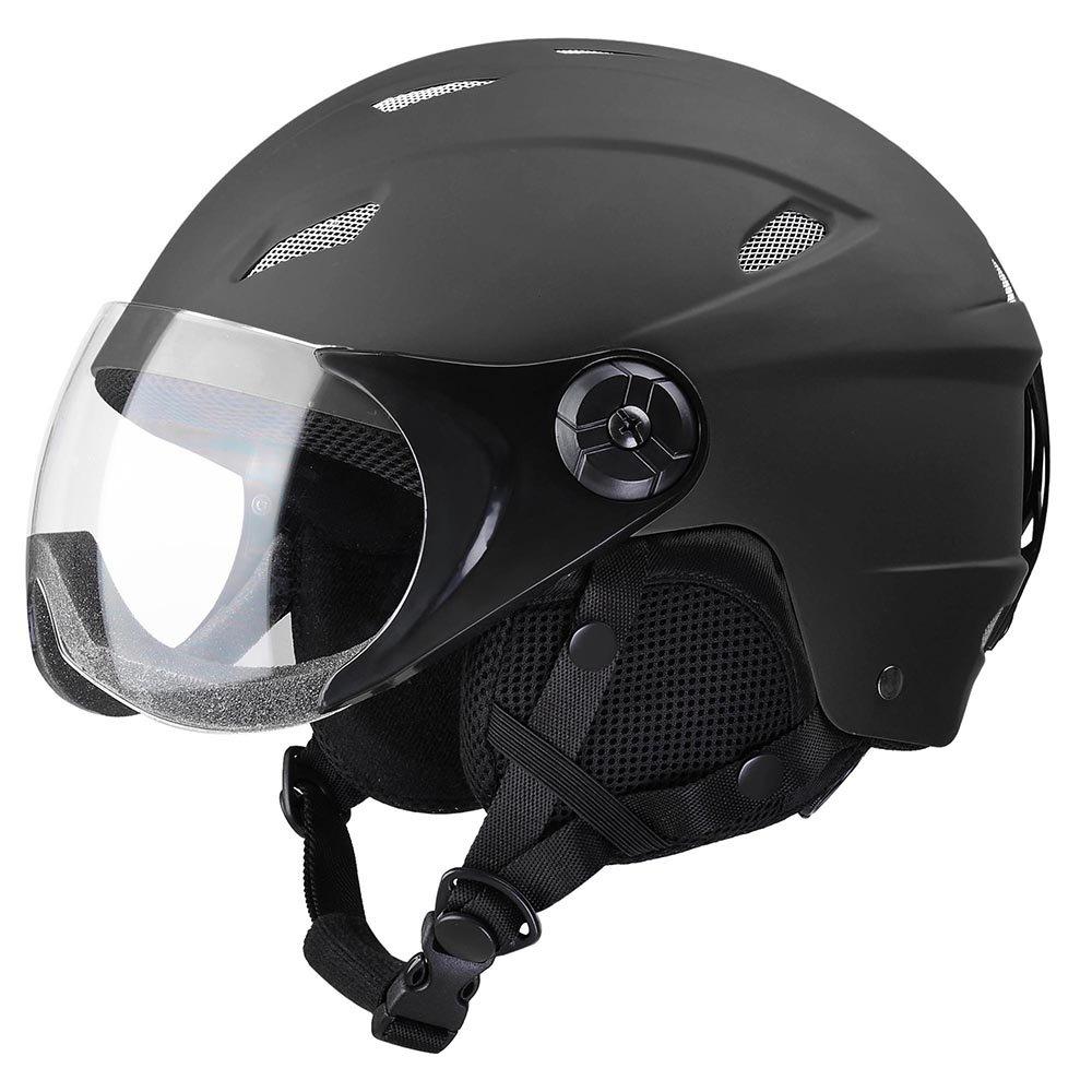 Yescom Kids Snow Sports Helmet ATSM Certified Ski Skate Board Protective Matte Black S