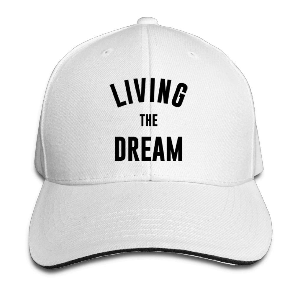 BUSEOTR Living The Dream1 Baseball Caps Adjustable Back Strap Flat Hat