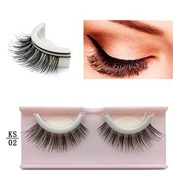 4daab2b4f4f Amazon.com : Self Adhesive 3D False Eyelashes Non-Irritating Lashes Strips  Natural Reusable Eye Lash Extensions Adjustable Handmade Eyelashes for  Fashion ...