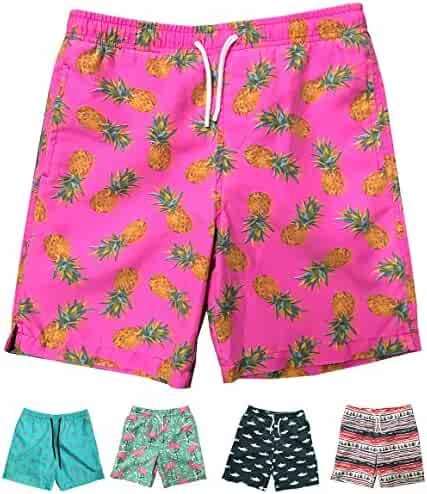 4a18a5aff7 INGEAR Little Boys Quick Dry Beach Board Shorts Swim Trunk Swimsuit Beach  Shorts with Mesh Lining