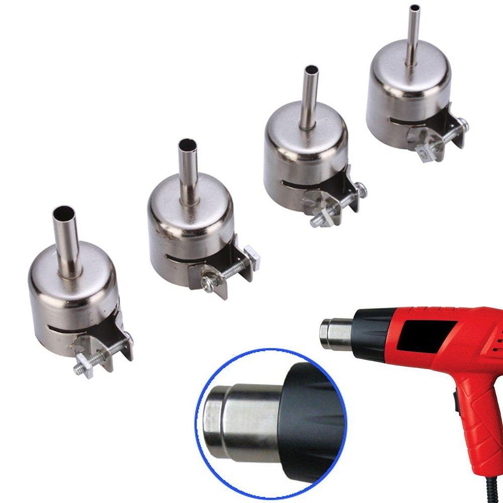 12Pcs/set Heat Gun Nozzles Hot Air Gun Mouth Gun Blower Nozzles Heat Air  Gun Solder Kit for 850 Hot Air Soldering Station BGA Nozzle Rework Repair