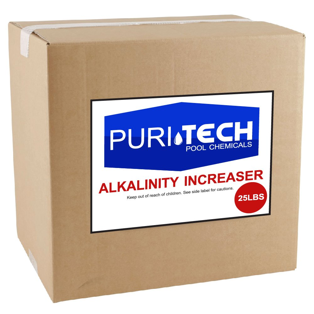 Puri Tech Pool Chemicals 25 lb Total Alkalinity Increaser Plus for Swimming Pool Water Increases Total Alkalinity Prevents Water from Cloudiness or Scaling by Puri Tech