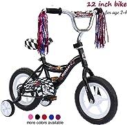 ChromeWheels Kids' Bike 12-16 inch with Training Wheels and EVA Tire, Girls Boys Bike for 2-6 Years Old