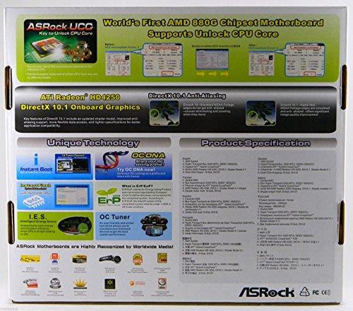 ASRock Socket AM3/AMD 880G/Hybrid CrossFireX/A&V&GbE/MATX