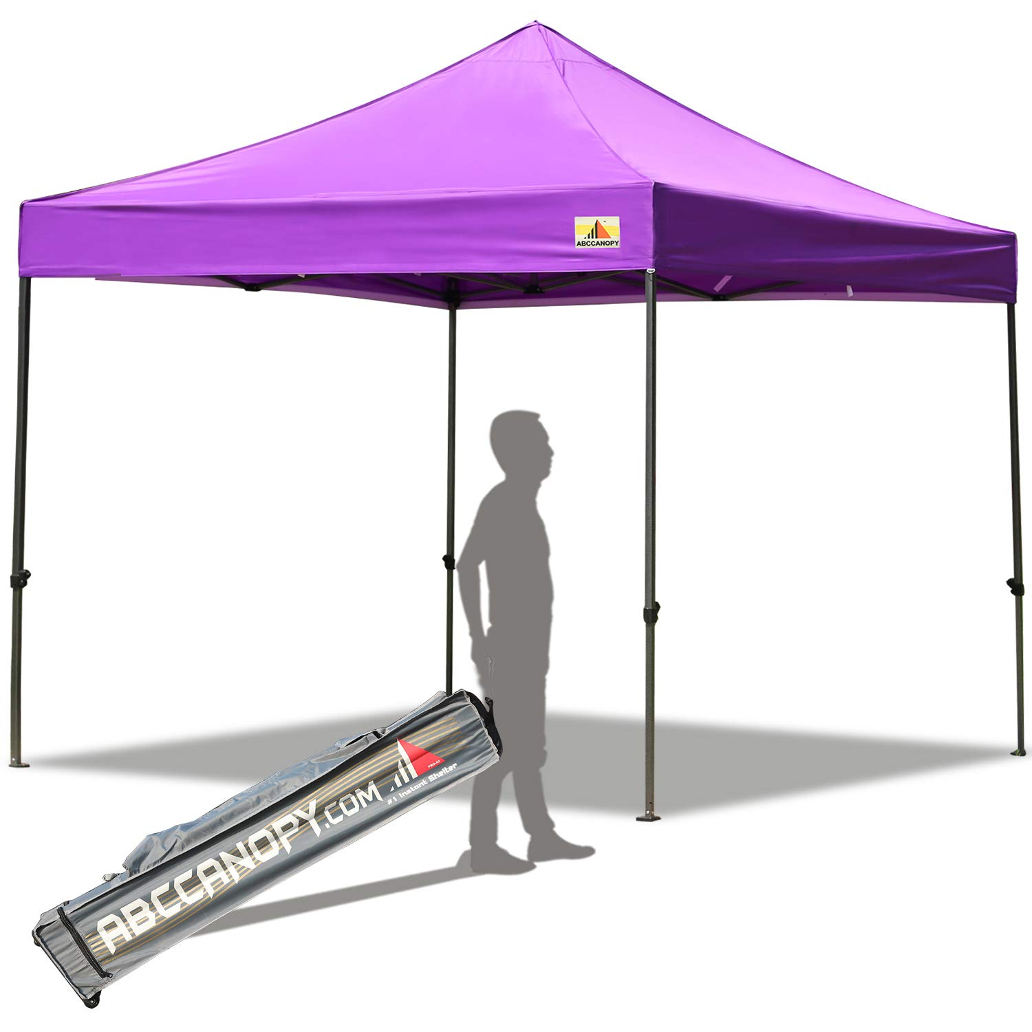 ABCCANOPY Pop up Canopy Tent Commercial Instant Shelter with Wheeled Carry Bag, 10x10 FT Purple