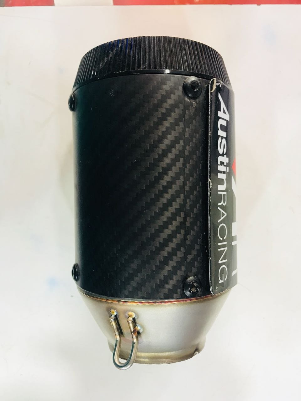 ACHALTRADERS Austin Racing Universal Bike Exhaust Silencer (Black