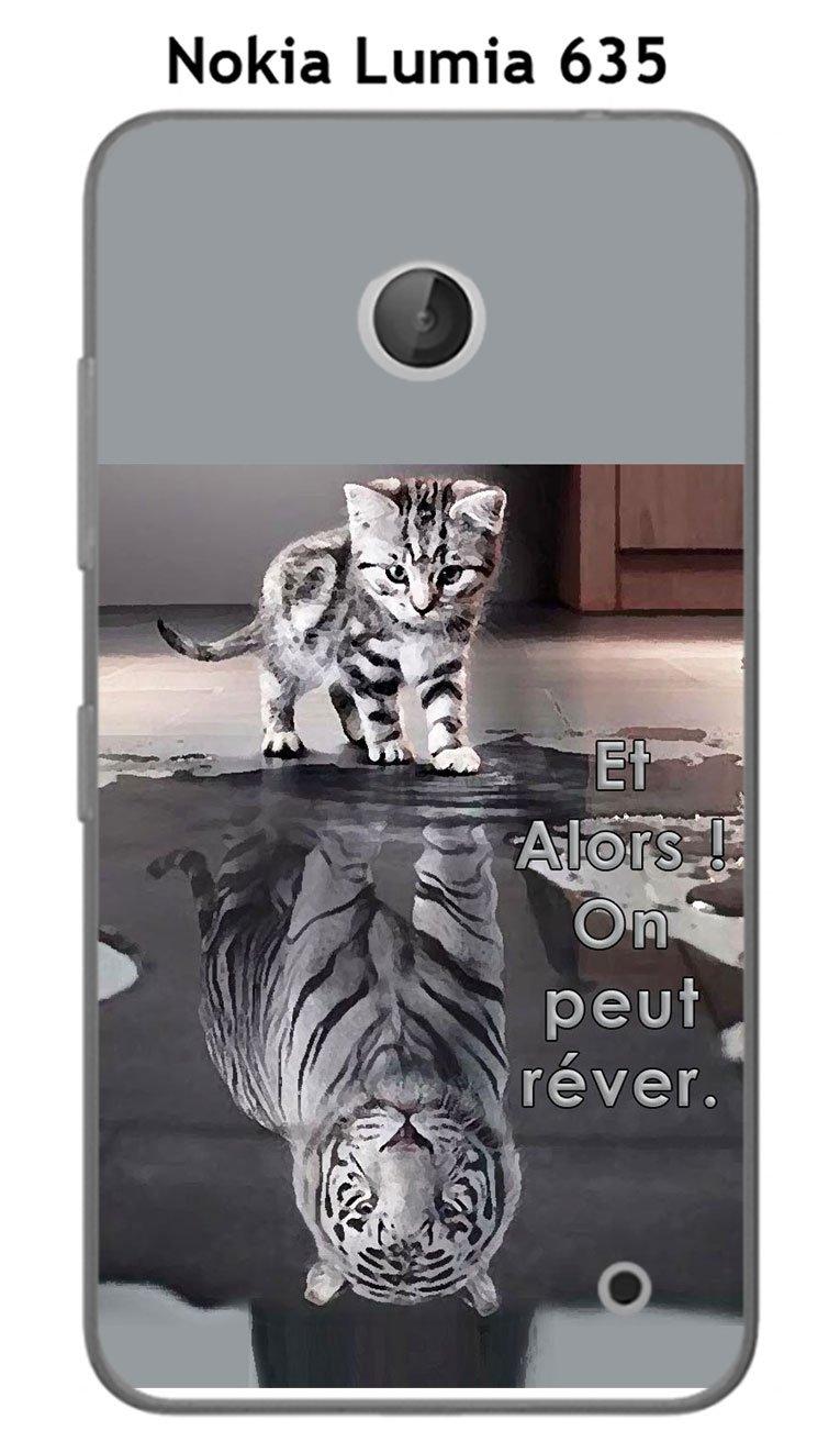 Onozo Carcasa Nokia Lumia 635 Design Gato Tigre Blanco y ...