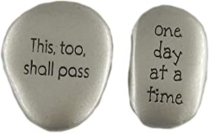 CAG One Day at a Time Thumb Stone and This Too Shall Pass Comfort Stone