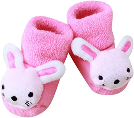 Toddler baby girl boy anti-slip boot socks kids baby cartoon warm shoes slipper
