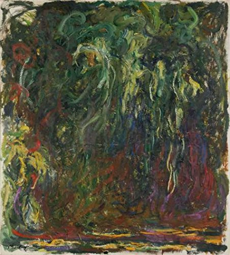 'Weeping Willow, 1920-1922 By Claude Monet' Oil Painting, 30x33 Inch / 76x84 Cm ,printed On High Quality Polyster Canvas ,this Imitations Art DecorativeCanvas Prints Is Perfectly Suitalbe For Garage Decoration And Home Decor And Gifts