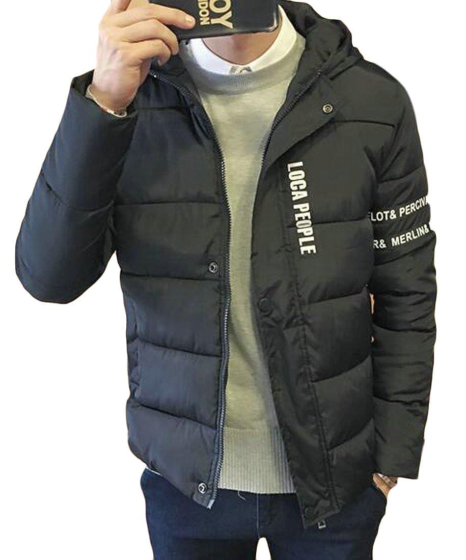 Hokny TD Mens Winter Lightweight Packable Hoodie Outwear Puffer Jacket Down Coat