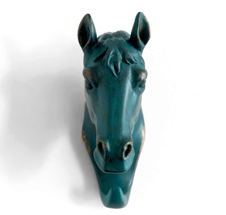 HERNGEE Horse Head Single Wall Hook / Hanger Animal shaped Coat Hat Hook Heavy Duty, Rustic, Decorative Gift , Rustic Bronze Color