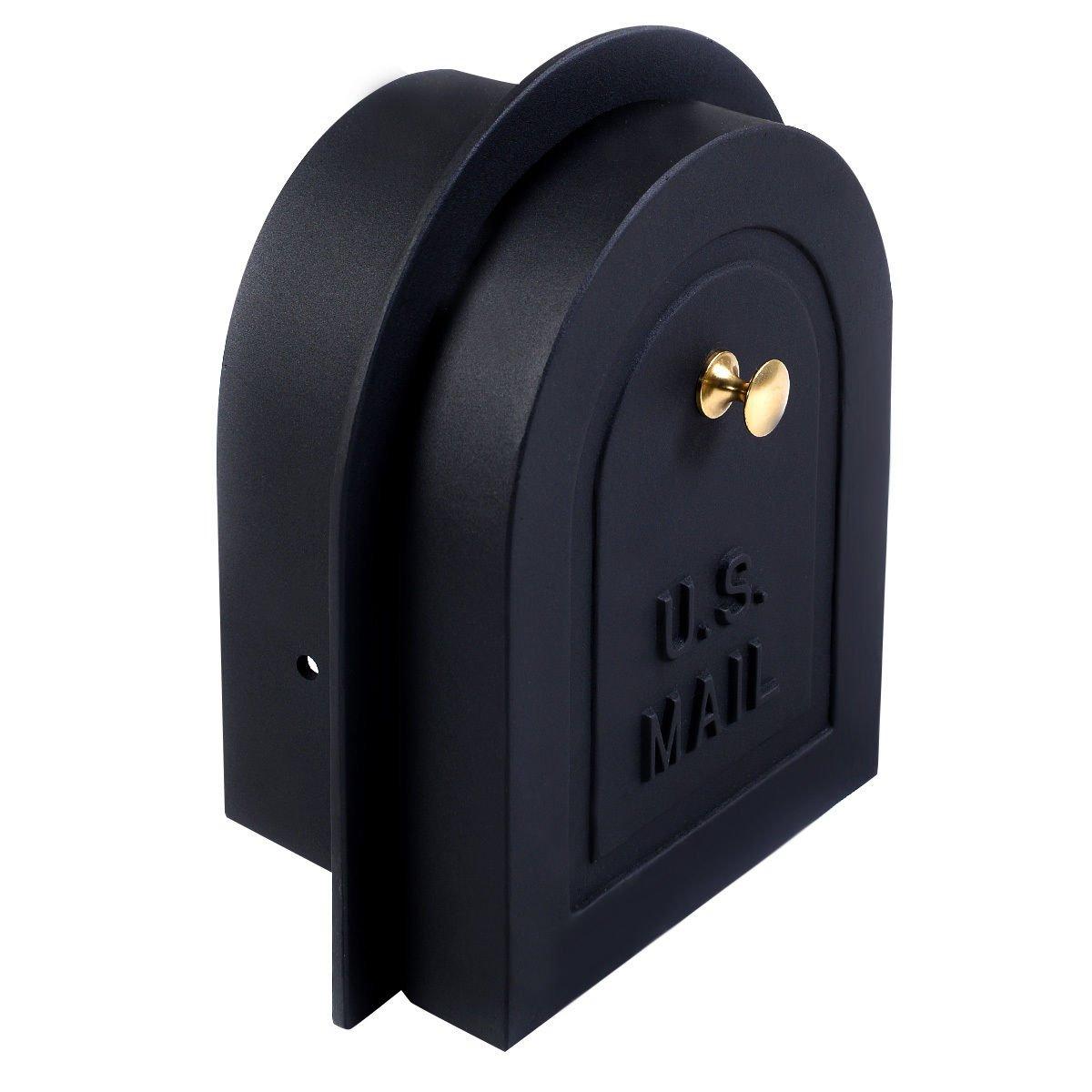 GHP Cast Aluminum 8'' Brick Stone Stucco Mailbox Door Replacement