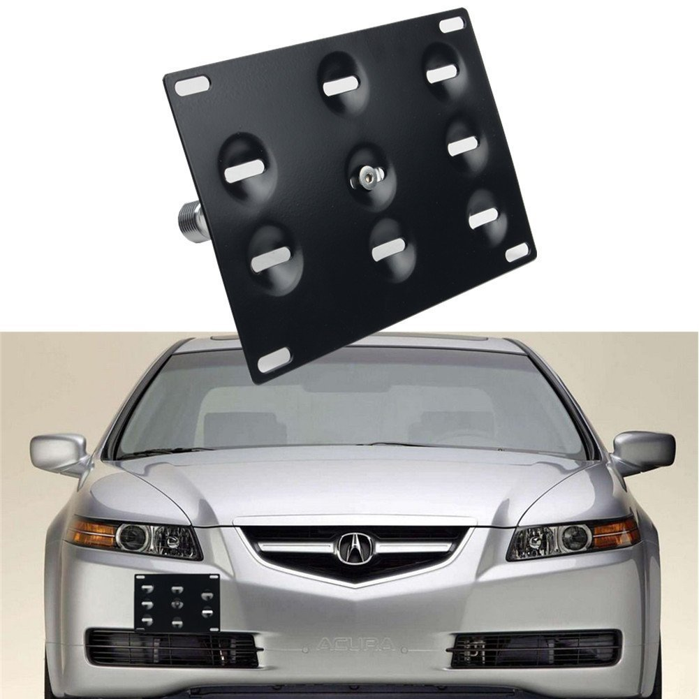Dewhel Sport Front Bumper Tow Hook License Plate Mount Bracket Holder Bolt On For Honda S2000 AP1 AP2 FIT Acura TL