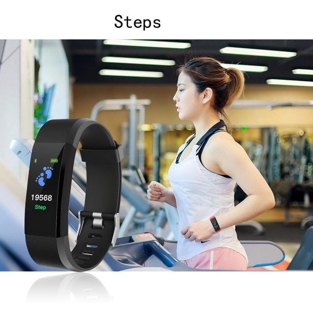 LIOPIO Perseguidor Multifuncional Smart Fitness Wristband Monitor de frecuencia cardíaca Fitness Track Pulseras con Holograma