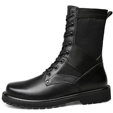 Herren High Top Leder Martin Schuhe Militär Armee Bewaffneten Kampf Taktik  Stiefel Outdoor-Desert Bergsteigen Bequeme Schuhe  Amazon.de  Bekleidung af459bfd8a