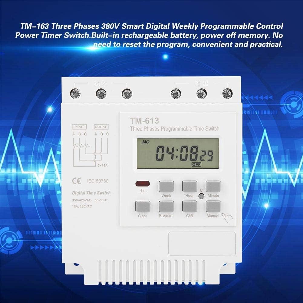 Relais temporis/é programmable TM-163 Commutateur de minuterie de puissance programmable hebdomadaire num/érique intelligent 380V
