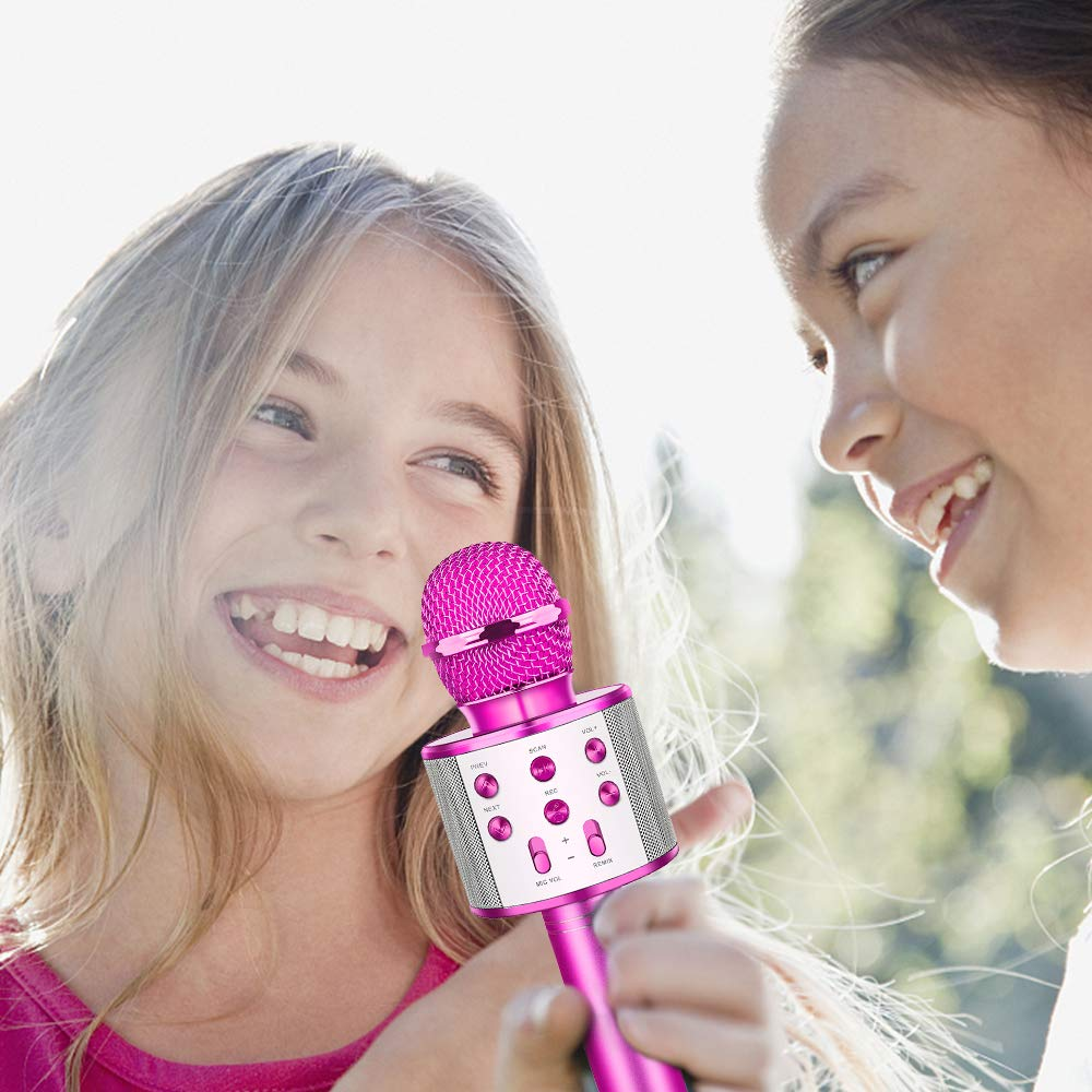 Tesoky Best Toys for 5-12 Year Old Girl, Handhold Wireless Bluetooth Potable Karaoke Microphone Machine Speaker Unique Gift for 5-12 Year Old Girl Boys Teen Party Favors Travel Toys TESOKYG02 by Tesoky (Image #5)