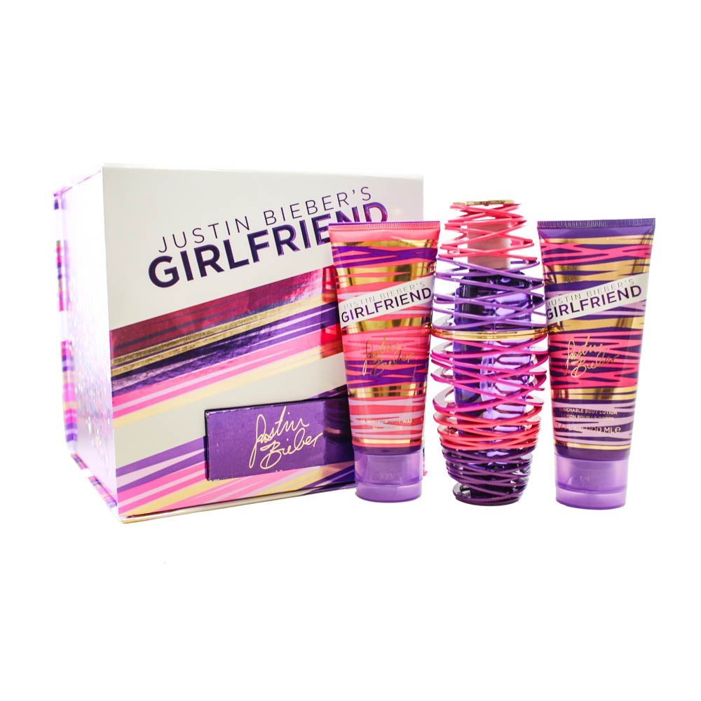 Girlfriend by Justin Beiber - Gift Set -- 3.4 oz Eau De Parfum Spray + 3.4 oz... Justin Bieber 501129