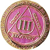 3 Year AA Medallion Reflex Lavender Pink Color Chip III