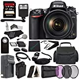 Nikon D750 DSLR Camera with 24-120mm Lens + 77mm 3 Piece Filter Set + Battery + Charger + Sony 64GB SDXC Card + HDMI Cable + Remote + Memory Card Wallet + Memory Card Reader + Flash Bundle