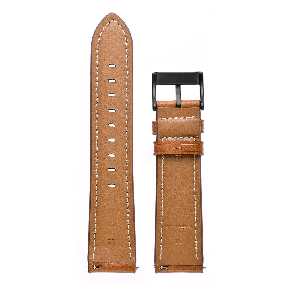 Kartice Compatible Amazfit Bip Band,Huami Amazfit Bip Bands Genuine Leather Strap Replacement Buckle Strap Wrist Band Compatible Amazfit Bip Smartwatch. (Brown) by Kartice (Image #6)