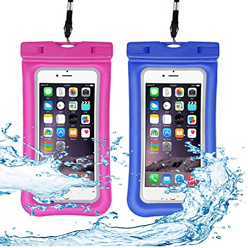 Venoro Universal Waterproof Case, IPX 8 Floating Waterproof Phone Pouch Underwater Dry Bag for iPhone X, 8/8 Plus, 7/7 Plus, Samsung Galaxy S9/S9 Plus, S8/S8 Plus, S7 Edge, LG V30, Moto G6 (2 Pack) by Venoro (Image #7)