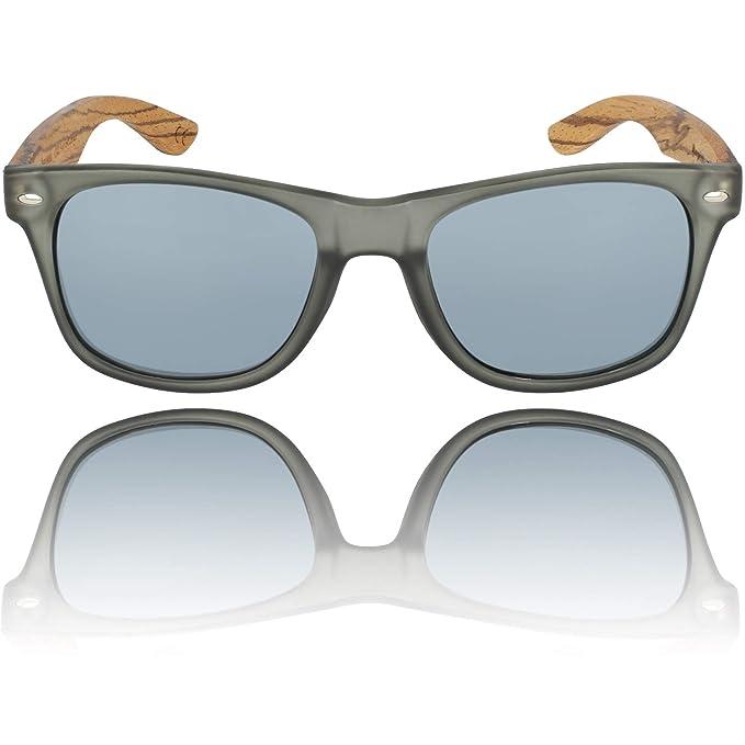 Wooden Eco Sunglasses Mens Womens Maple Black Brown Blue Polarised lenses
