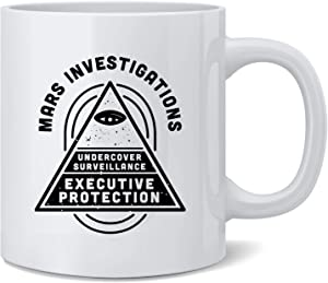 Poster Foundry Mars Investigations Retro Noir Detective Ceramic Coffee Mug Tea Cup Fun Novelty Gift 12 oz