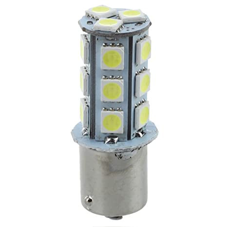 SODIAL(R) 4X Blanco 1156 BA15S P21W R10W 18 LED 5050 SMD freno de