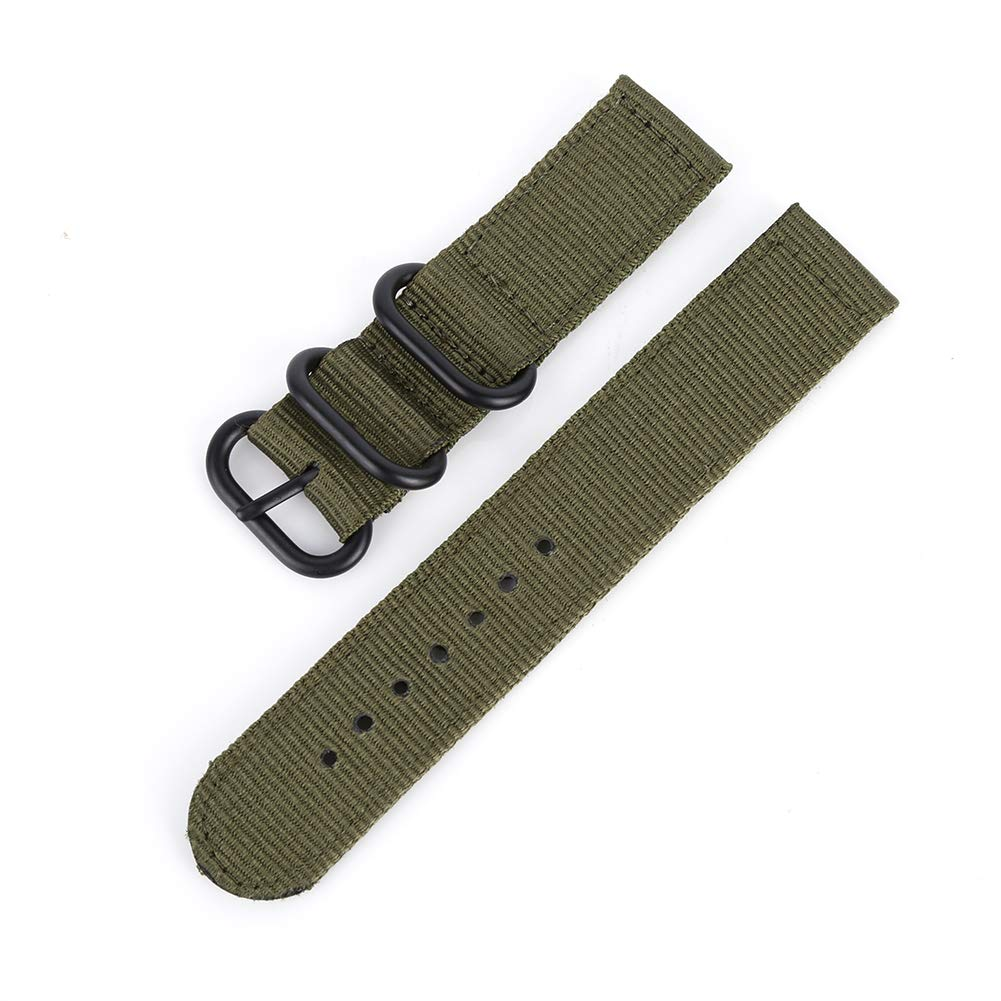 ChYoung 18mm 20mm 22mm 24mm Premium Nylon Watch Watch Band with Black Heavy Buckle for Men Women