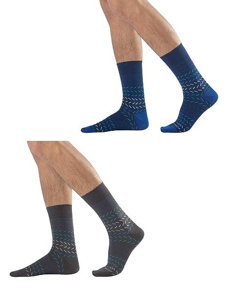 Amazon.com: 2 pares de calcetines casuales para hombre ...