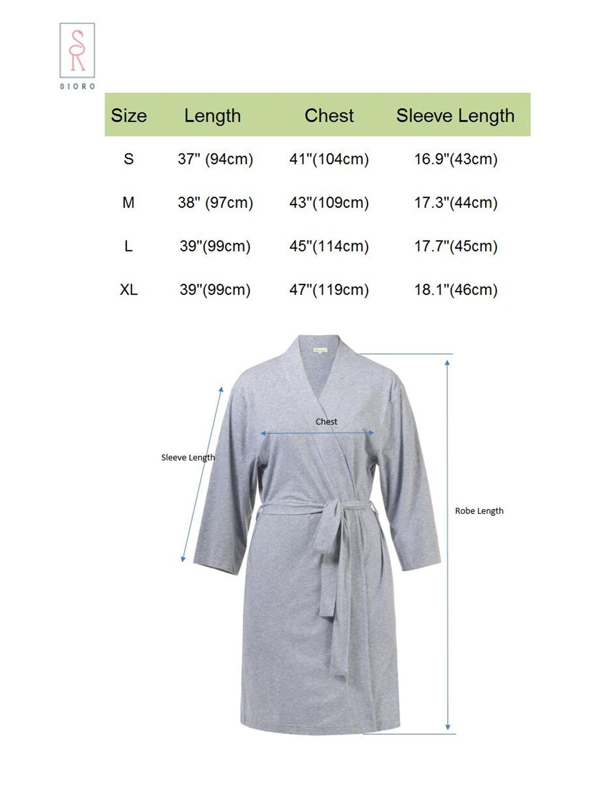 SIORO Cotton Robes Lightweight Kimono Robe Gowns Soft Knit Bathrobe  Nightwear V-Neck Loungewear Sexy Sleepwear Short for Women eeb33bf88