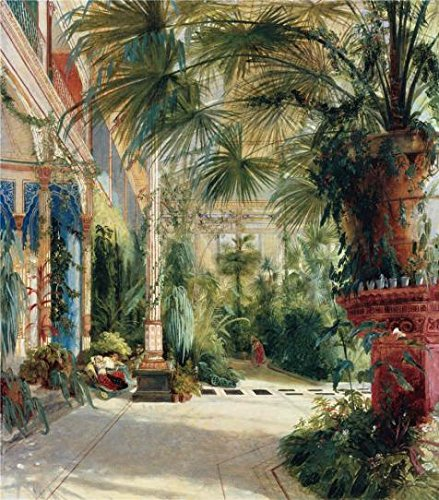 'Carl Blechen-The Interior Of The Palm House,1832' Oil Painting, 20x23 Inch / 51x58 Cm ,printed On Polyster Canvas ,this Replica Art DecorativeCanvas Prints Is Perfectly Suitalbe For Gym Decoration And (Party Galaxy Near Me)