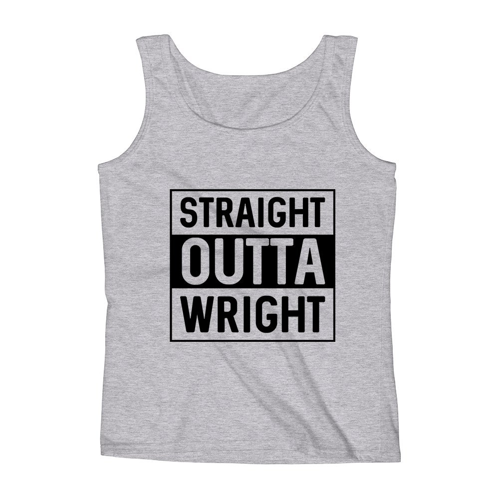 Mad Over Shirts Straight Outta Wright Unisex Premium Tank Top