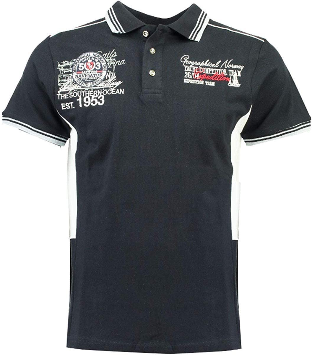 Geographical Norway Kling SS Hombre Polo para Hombres Nuevo - Azul ...