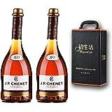 香奈红酒法国原瓶进口白兰地XO 750ml双支皮盒 (白兰地 双支皮盒)