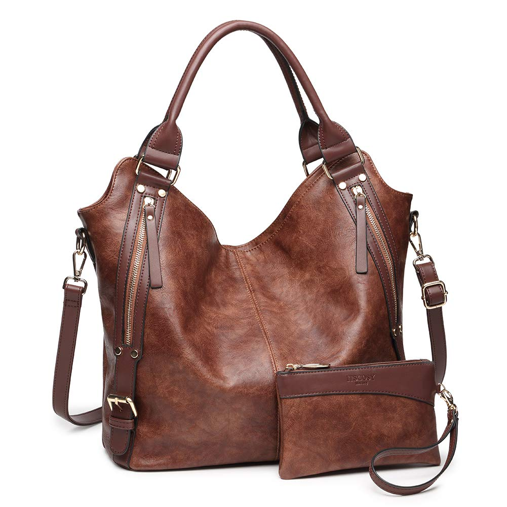 2018 HOT Women Tote Bag Handbags PU Leather Fashion Large Capacity Hobo Shoulder Bags with Adjustable Shoulder Strap by ITSCOSY (Image #1)