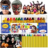 Face Paint for Kids,LLOP 16 Colors 16 Pcs Face Painting Kits Crayons Safe Soft for Sensitive Skin Halloween Makeup Birthday Party