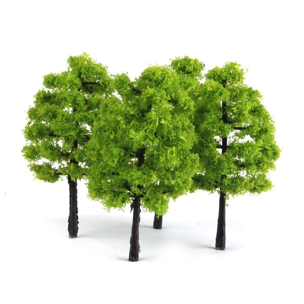 NaiCasy 20 Pieces Model Trees Mixed Model Tree Train Trees Railroad Scenery Diorama Tree Architecture Trees for DIY Scenery Landscape Gift