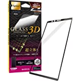 Xperia 1 SO-03L/SOV40/SoftBank ガラスフィルム 「GLASS PREMIUM FILM」 超立体オールガラス ブラック・超透明 LP-M19SX1FGFRBK