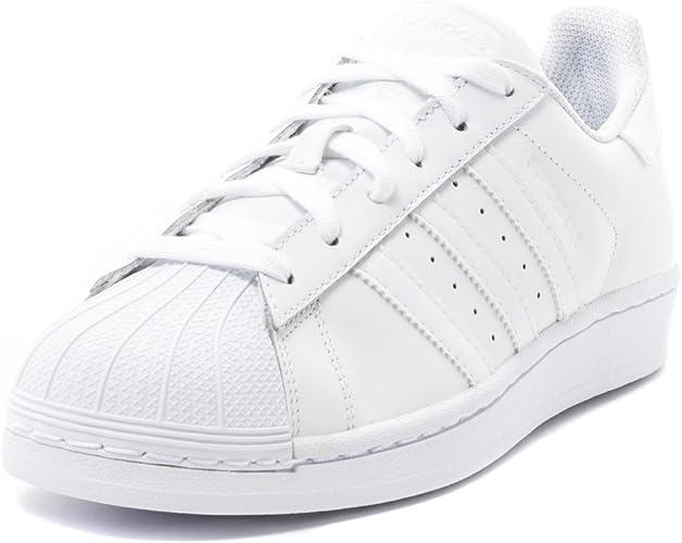 basket adidas superstar gs en cuir blanc