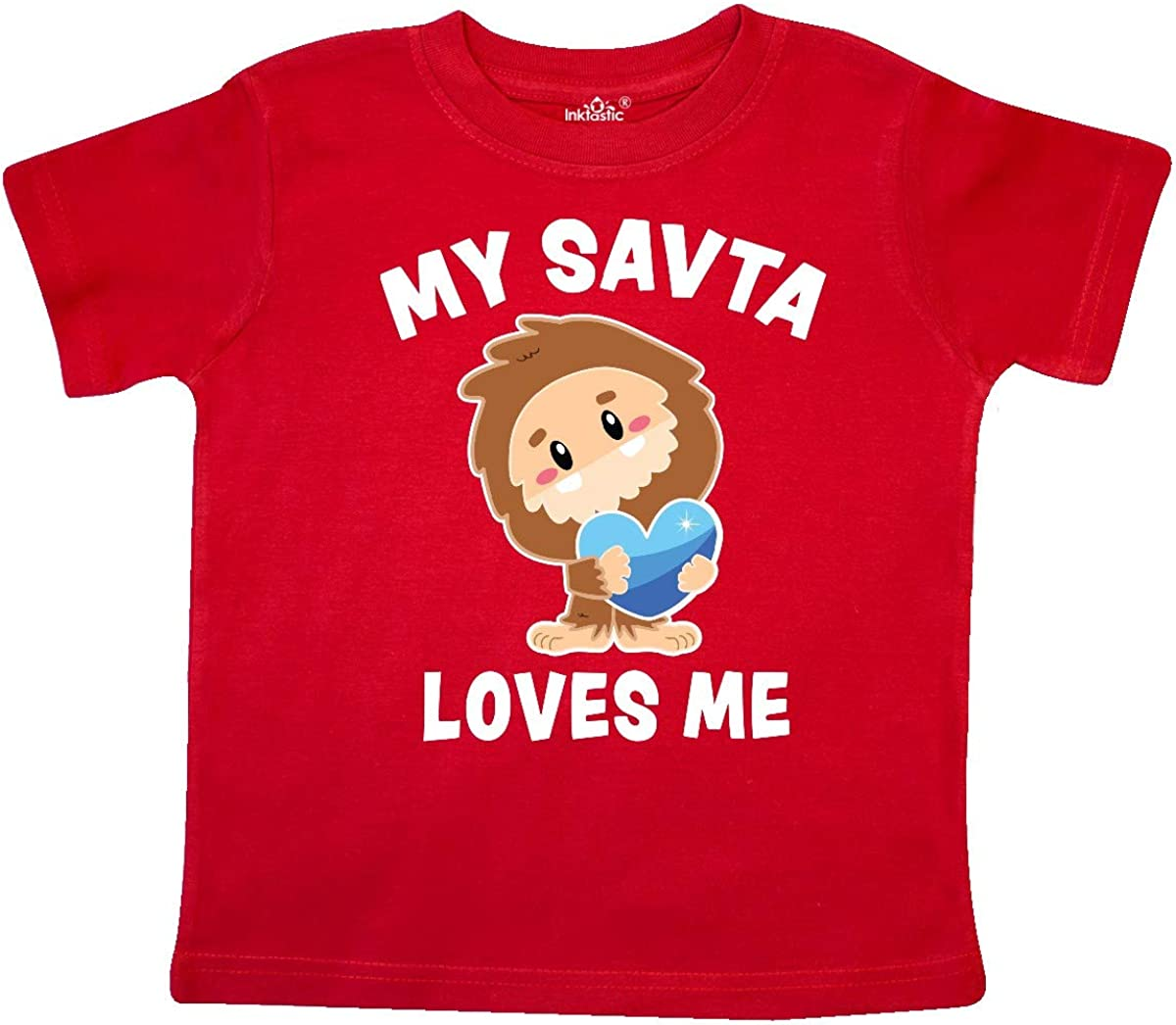 inktastic Cute Bigfoot My SAVTA Loves Me Toddler T-Shirt