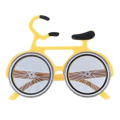 P Prettyia Gafas de Sol Divertidas Forma de Bicicleta para ...