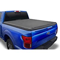 Tyger Auto T1 Soft Roll Up Truck Bed Tonneau Cover for 2004-2008 Ford F-150; 2005-2008 Lincoln Mark LT  Styleside 5.5' Bed  TG-BC1F9019, Black