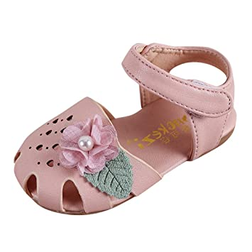 15505850e4e Pretty Flower Summer Flat Shoes For Infant Kids Baby Girls Pear Heart  Hallow Sandals Beach Breathable