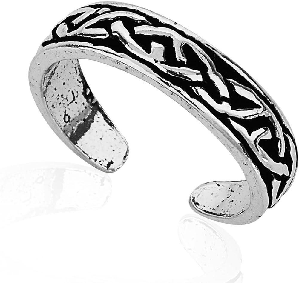 Celtic Toe Ring Adjustable Toe Ring Sterling Silver Celtic Key Toe Ring