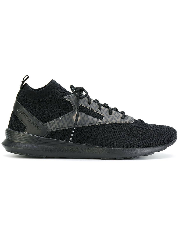 Marcelo Burlon X Reebok メンズ CMIA037F170120231000 ブラック ポリエステル 運動靴 B07DXNV4HV
