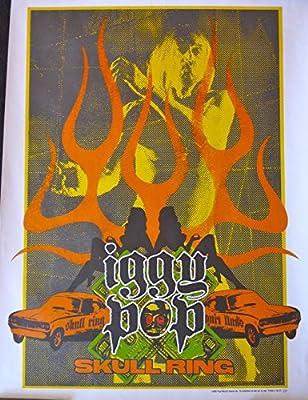 Amazon.com: Iggy Pop – Cráneo Ring – Rare la publicidad ...