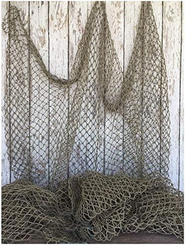 Red pesca decoración en marrón